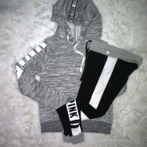 PINK Outfit Small marl gray sweatshirt legging